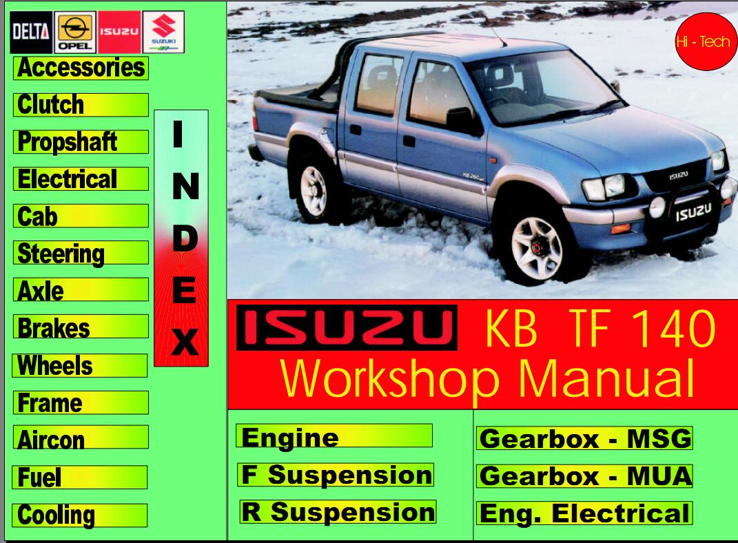 pdf service manuals page 3 holden isuzu diy australia4wd forum rh forum australia4wd com 2005 Holden Rodeo Holden Rodeo 2002